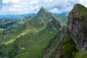 Blick vom Gipfel zum Speer