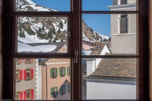 Blick aus dem Zimmer im Chesa Lanz - Hotel Post