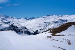 Blick vom Kanonensattel in Richtung Septimerpass mit den umliegenden Bergen