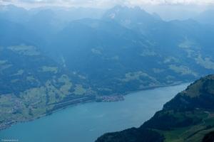 Blick vom Nachbarberg des Zuestoll, Brisi, auf die Glarner Alpen