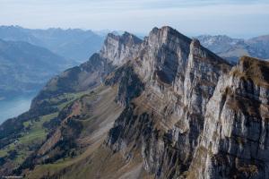 Blick vom Hinderrugg auf die westlichen Gipfel der Churfirsten