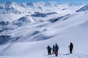 Abstieg vom kleinen Lai Radon zur Alp La Motta