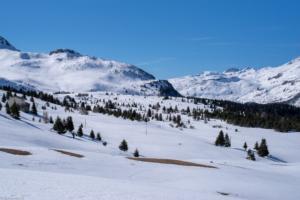 Alp Flix mit Blick auf den Kanonensattel