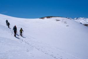 Aufstieg von der Alp Flix auf den Kanonensattel