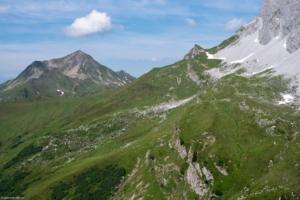 Blick zurück kurz vor der Carschinahütte nach Westen