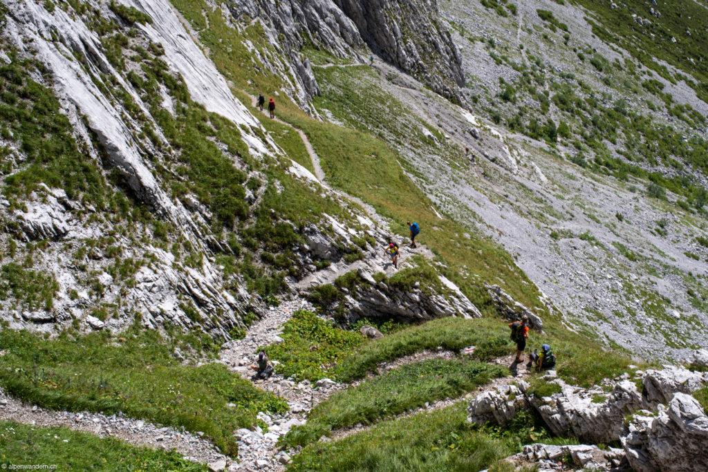 Aufstieg zum Schweizertor Drusenfluh
