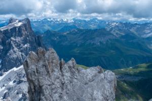 Blick vom mittleren Gipfel der Dri Türm auf Sulzfluh