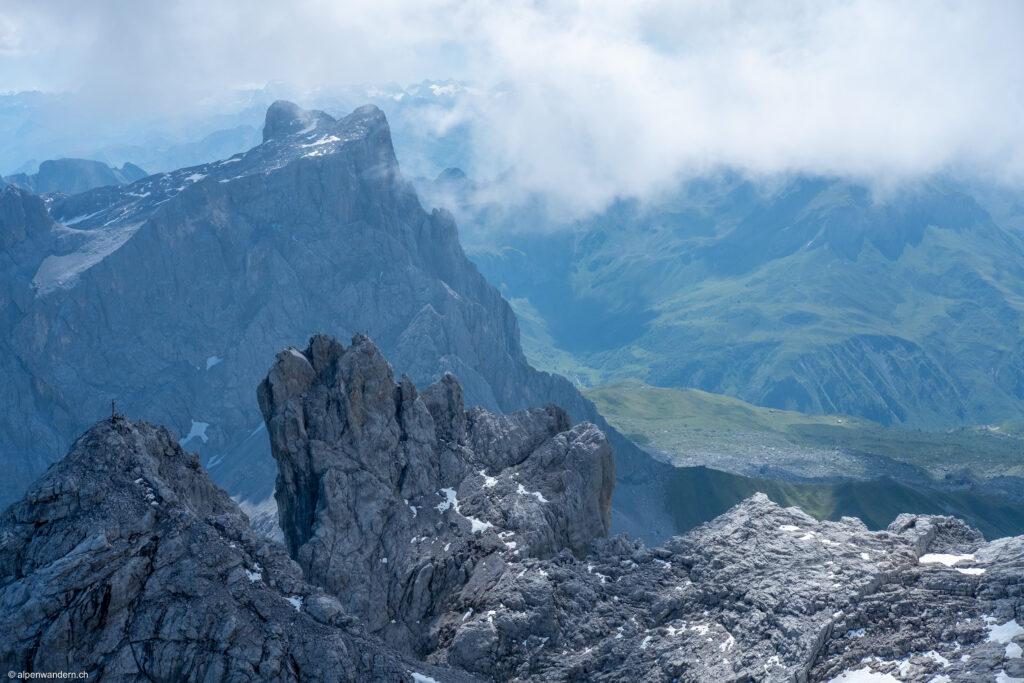 Aussicht von Dri Türm auf Sulzfluh