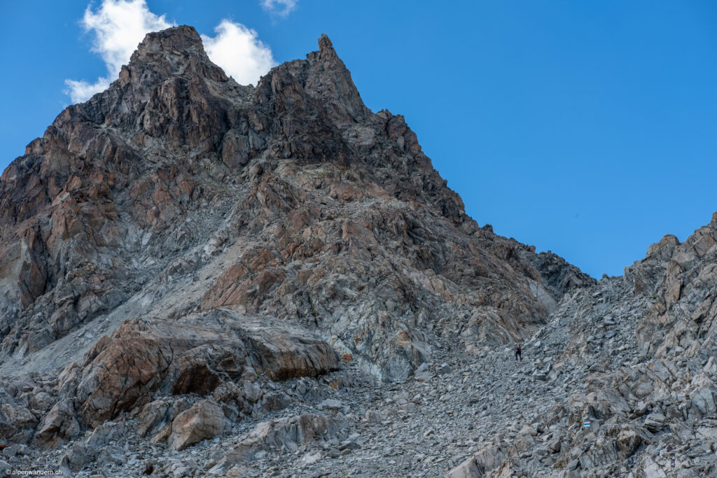 Aufstieg zur Porta d'Es-cha