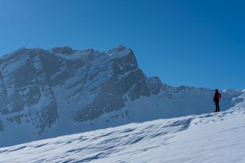 Aufsteig Strätscherhora mit Blick auf den Safierberg