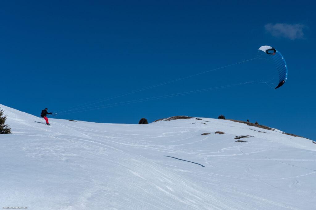 Kite Skier beim Lai da Vons