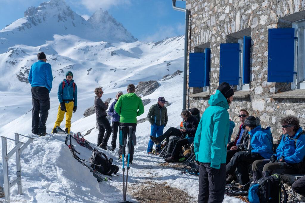 SAC Bachtel Gruppentreffen auf der Cufercalhütte