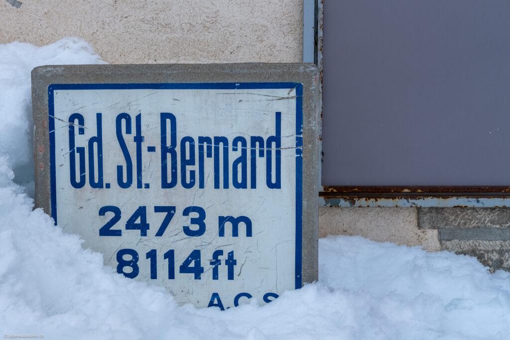 Ortsschild Grosser Sankt Bernhard