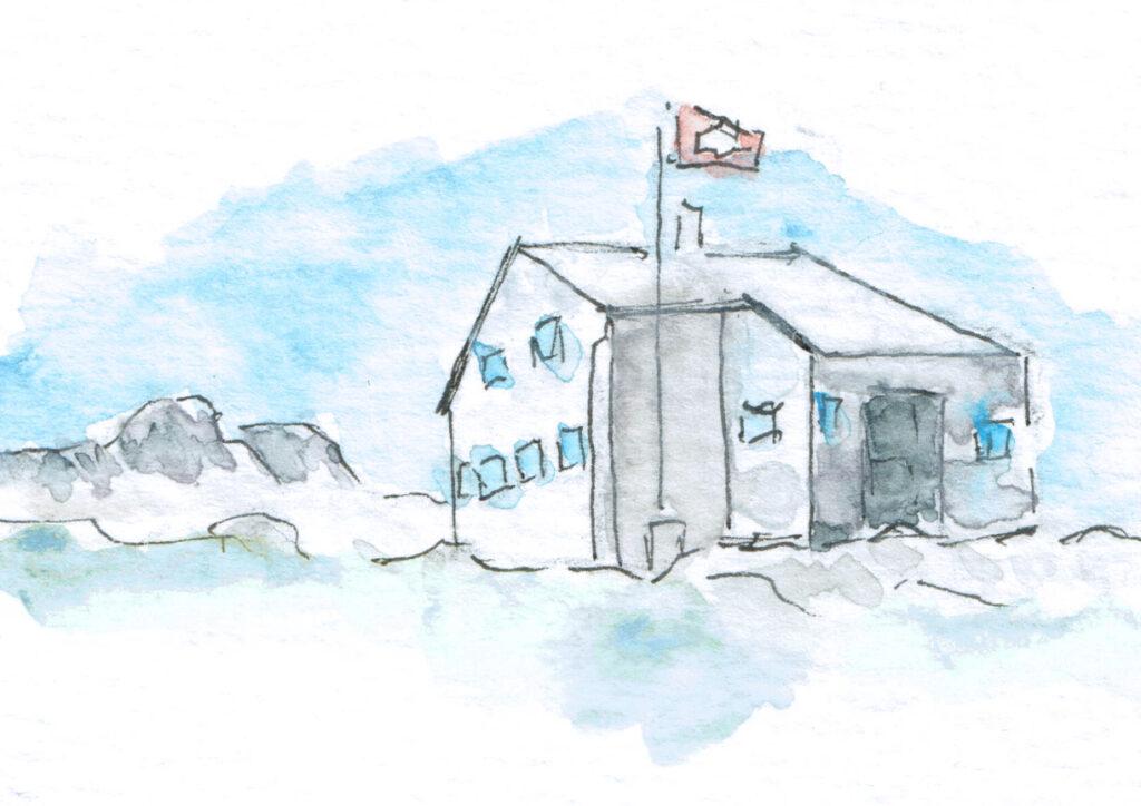 Illustration Cufercalhütte Winter