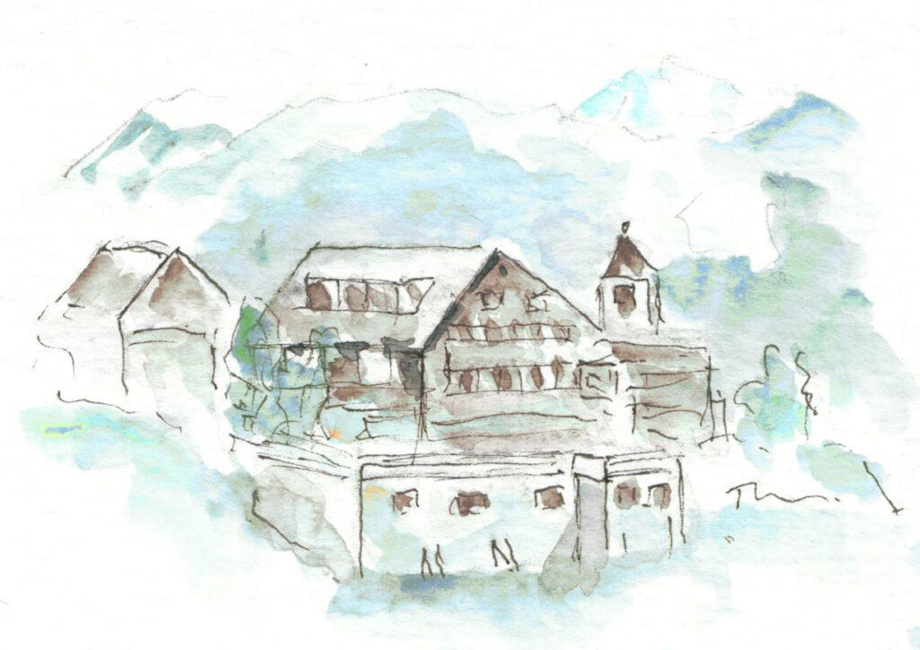 Illustration Hotel Capricorns Winter